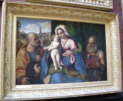 La Vierge, l'Enfant Jésus, Saint Pierre, Saint Jérôme et un donateur