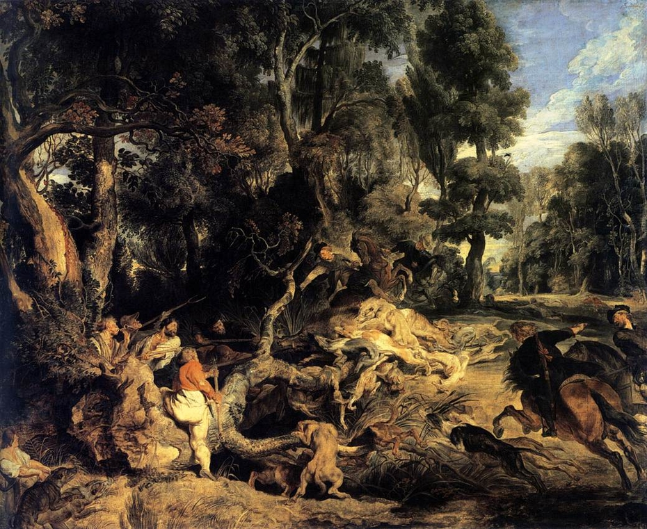 Landscape with Boar Hunt