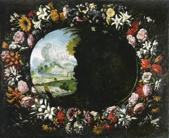 Landscape with Garland of Flowers
