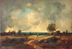 Landscape with Peasant Woman on a Path