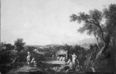 Landscape with Peasants at a Fountain