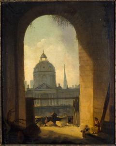 Le collège des Quatres-Nations, vu de l'entrée de la cour carrée du Louvre