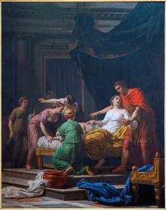 Le Dévouement de Porcia, femme de Junius Brutus