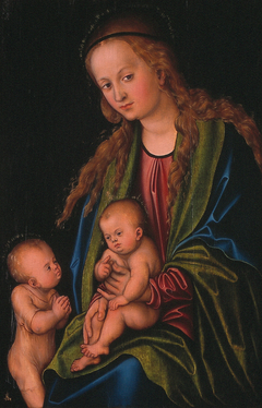Madonna and Child and little John