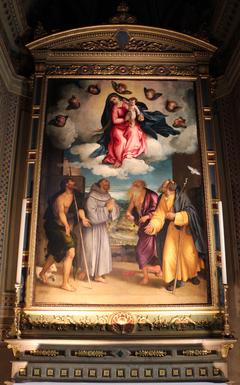 Madonna con il Bambino in gloria e i santi Giovanni Battista, Francesco, Girolamo e Giuseppe