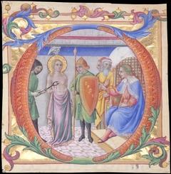 Martyrdom of Saint Agatha in an Initial D