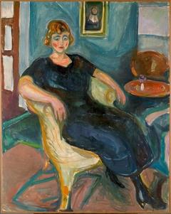 Model in Wicker Chair
