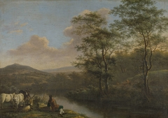 Mountainous Landscape with Shepherd Resting
