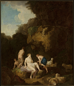 Nymphs in a grotto