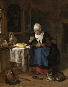 Old Woman Eating Porridge