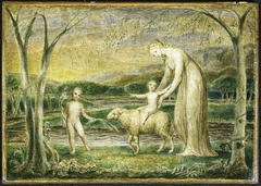 Our Lady with the Infant Jesus riding on a Lamb
