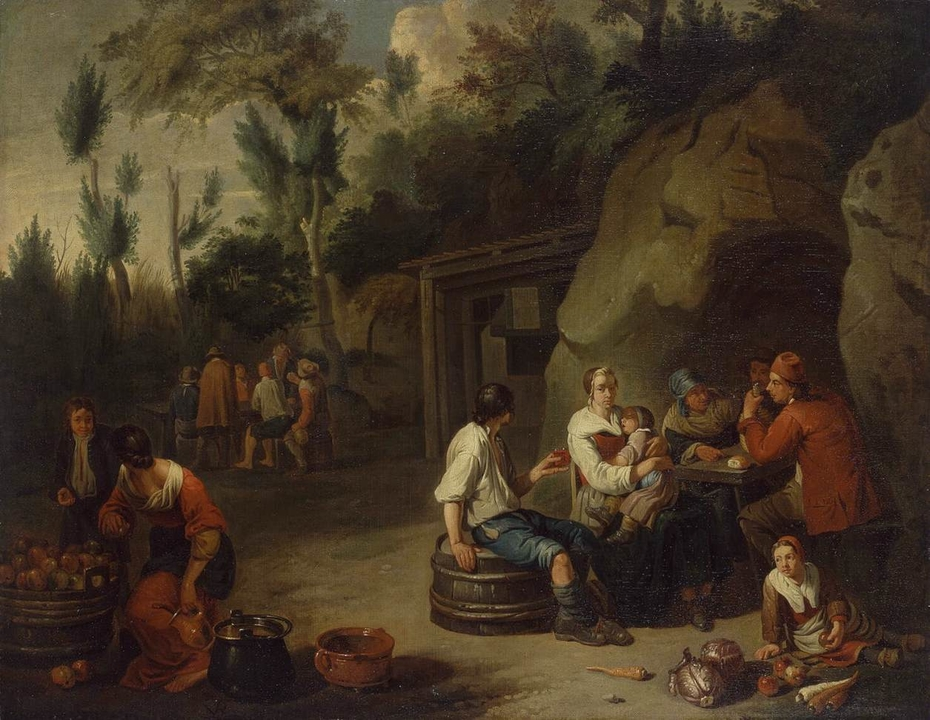 Peasant Family Sitting at the Table