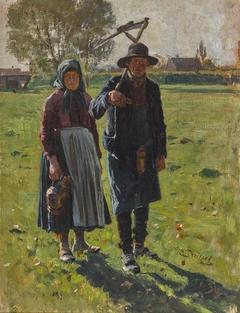 Peasant Pair with Scythe