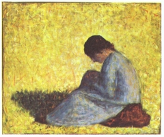 Peasant Woman Seated in the Grass