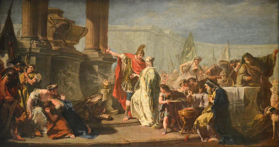 Polyxena before Achilles' Tomb