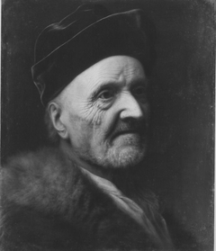Portrait of an old man with fur