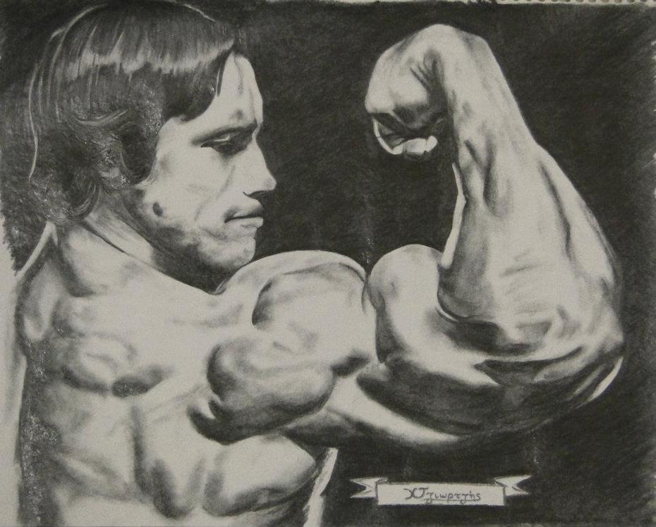 Portrait of Arnold by Christos Tziortzis Tattoo Artist