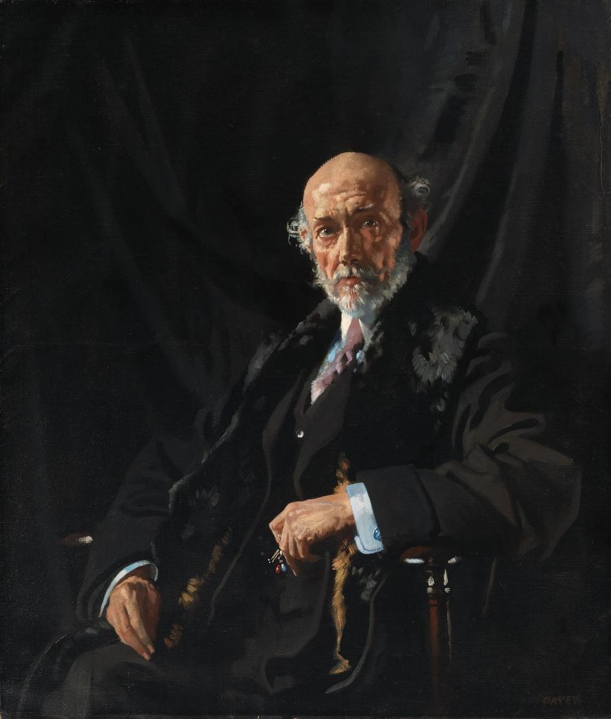 Portrait of Dr E.J. Dillon, War Correspondent and Publicist