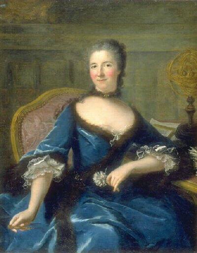 Portrait of Gabrielle Émilie Le Tonnelier de Breteuil, marquise du Châtelet