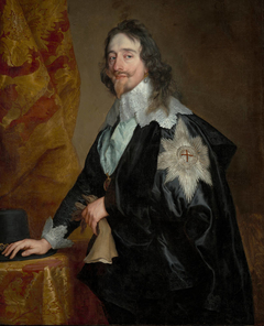 Portrait of King Charles I (1600-1649), with the Order of the Garter