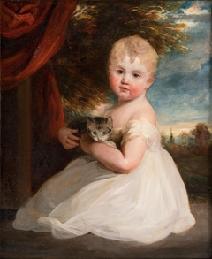 Portrait of Miss Home with a Kitten