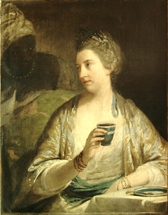 Portrait of Mrs. Reid in the Character as a Sultana