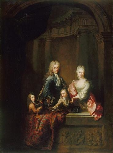 Portrait of the Maupertuis family