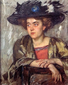 "Portrait of Thérèse Ansingh (artist name ""Sorella"")"