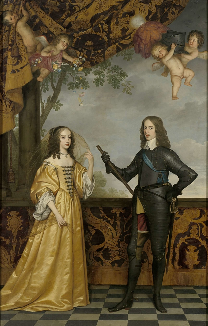 Portrait of Willem II (1626-1650), Prince of Orange, and his Wife Mary Stuart (1631-1660)