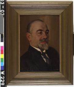 Portret van de beeldhouwer prof. Sortini