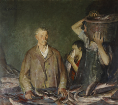 Provincetown Fisherman (Cleaning Fish)