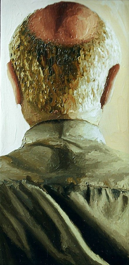 realistic painting realism art portrait israeli painter raphael perez older man portraits