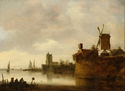 River Landscape with a Mill