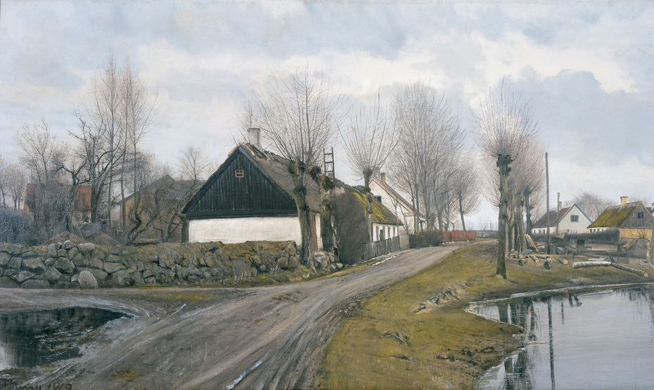 Road by the Village Pond in Baldersbrønde