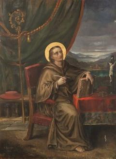Saint Bonaventure inspired to write