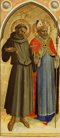 Saint Francis and a Bishop Saint