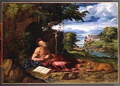 Saint Jerome Praying in the Desert
