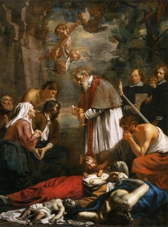 Saint Macarius of Ghent Giving Aid to the Plague Victims