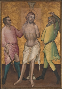 Saint Mary Magdalen Holding a Crucifix; (reverse) The Flagellation