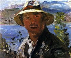 Self-Portrait in Straw Hat