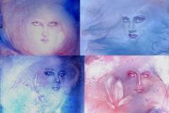 set of purple women