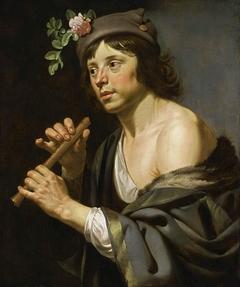 Shepherd Holding a Flute