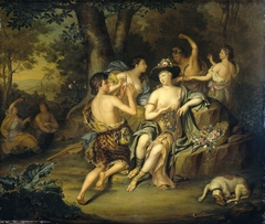 """""""Shepherds and Shepherdesses in a Landscape"""