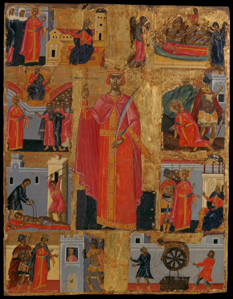 St Catherine and scenes from her life