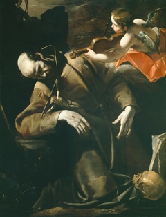 St. Francis of Assisi in Ecstasy before a Cherub with a Violin
