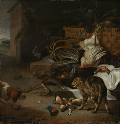 Still life with fowl and fruits