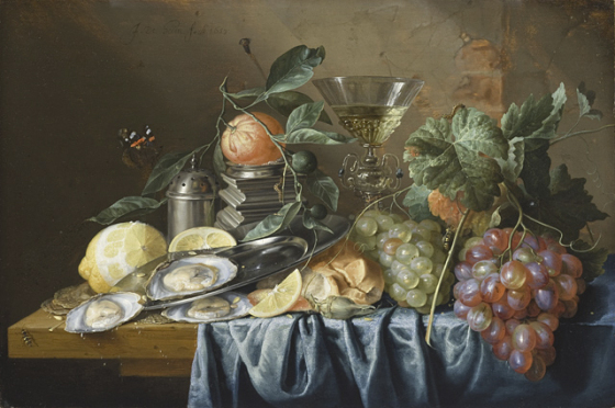 Still Life with Oysters and Grapes