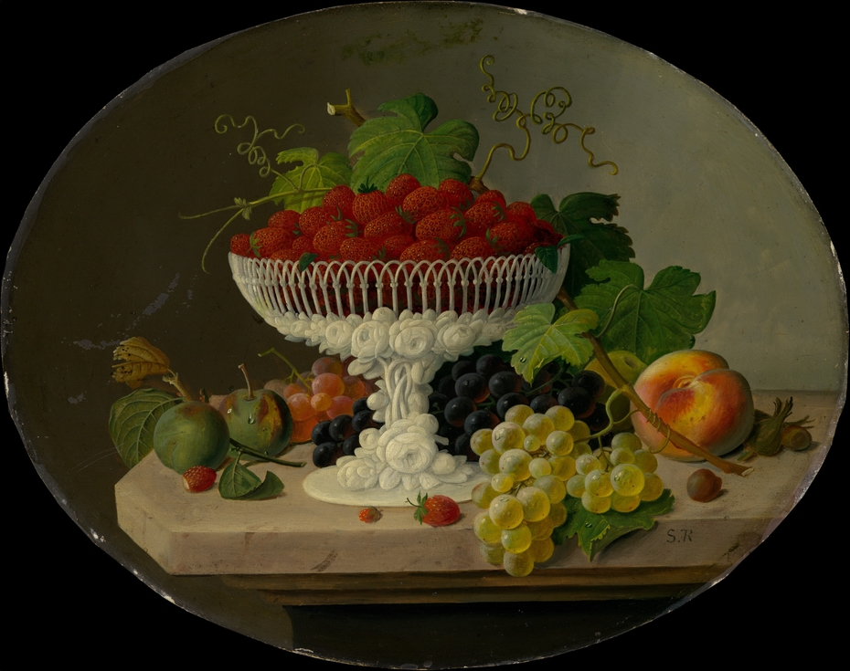 Still Life with Strawberries in a Compote