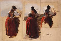 Studies of a Woman from Rügen