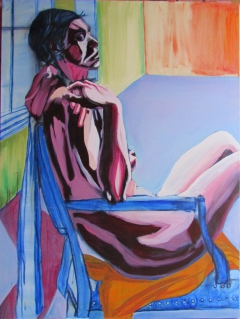 Study for Portrait 09-06; Oil on Canvas; 48in X 36in; Steve Hendrickson